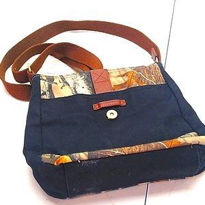 🔴 Legendary Black & Camo Denim Crossbody Tote Bag